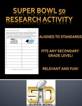Super Bowl Research Activity