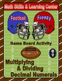 Football Math Skills & Learning Center (Multiply & Divide Decimals)