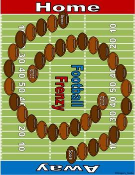 Football Math Skills & Learning Center (Multiply & Divide Fractions)