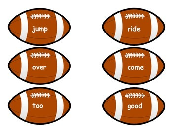 Super Bowl Sight Word Game