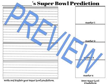 Super Bowl Sunday Activity!