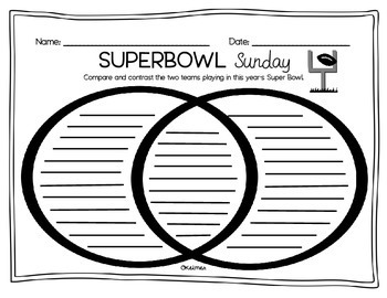 Super Bowl Sunday Fluency Passage & Comprehension Activities