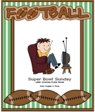 Super Sunday Football Letter Scramble Puzzle Packet and Center