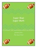 Super Bowl Super Math Customary Unit Measurement Activity