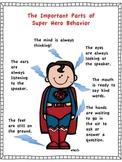 Super Hero Behavior Poster