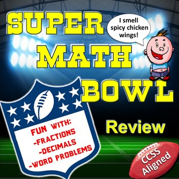 Super Bowl-Themed Math Review Packet (CCSS Aligned)