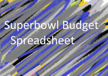 Super Bowl Trip Budget Spreadsheet