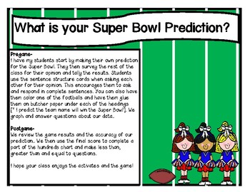 "Super Bowl ""What Is Your Super Bowl Prediction?"""