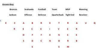 Super Bowl Wordsearch (2014)