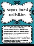 Super Bowl Worksheets