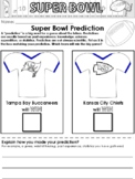 Super Bowl Worksheets and Writing Prompts