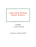 Super Bowl Writing Center Activity