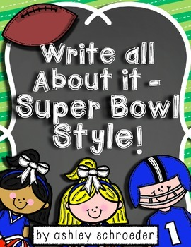 Super Bowl Writing paper, graphic organizers and ABC order