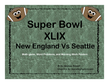 Super Bowl 50, 2016 - Math and Morning Work