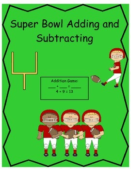 Super Bowl addition and subtraction game