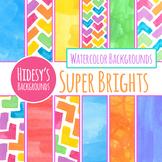 Super Bright Handpainted Watercolor Backgrounds / Digital