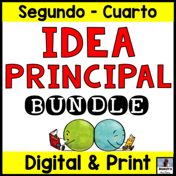 Super Bundle Main Idea in Spanish - Idea principal y detalles de apoyo