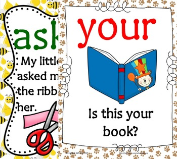 Super Bundle of Sight Word Sentence Cards(over 350 words and sentences)
