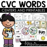 Super CVC Words Worksheets and Centers