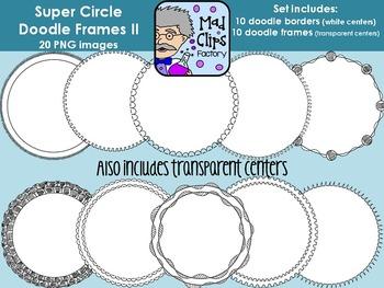 Super Circle Doodle Frames Set 2