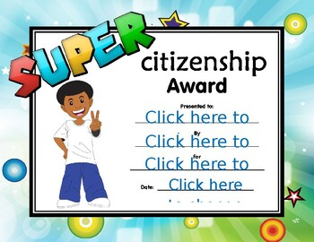 Super Citizenship Certificate boy 2