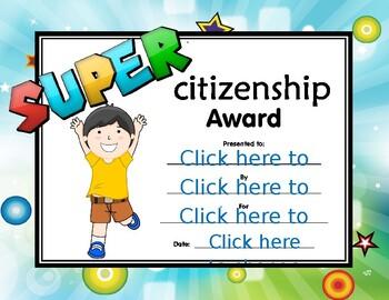 Super Citizenship Certificate boy