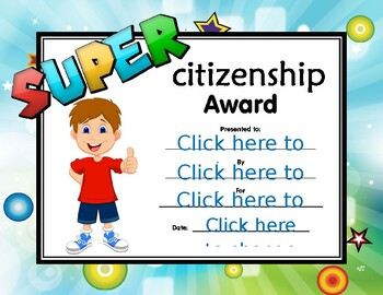 Super Citizenship Certificate boy 3