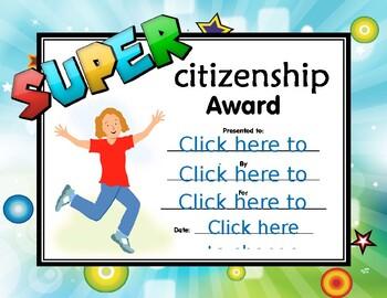 Super Citizenship Certificate girl 2