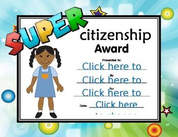 Super Citizenship Certificate girl