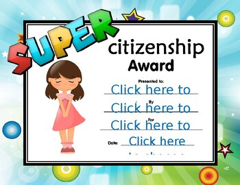 Super Citizenship Certificate girl 3