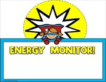 Superhero Themed Classroom Helper Chart