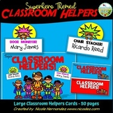 Classroom Helper Chart Superhero Themed