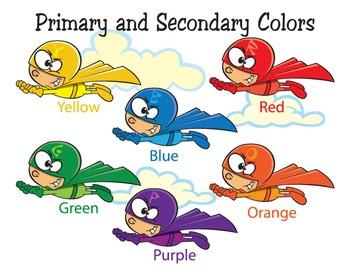 Super Hero Colors Cartoon Clipart