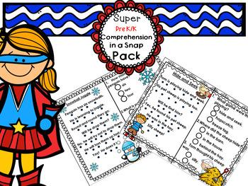 Reading Comprehension Pre-K Kindergarten