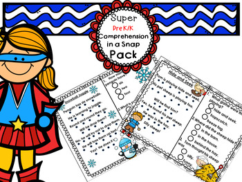 Reading Comprehension Pre-K Kindergarten