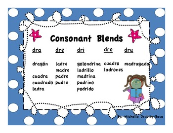 Super Consonant Blends: Spanish Open Syllables and Consonant Blends