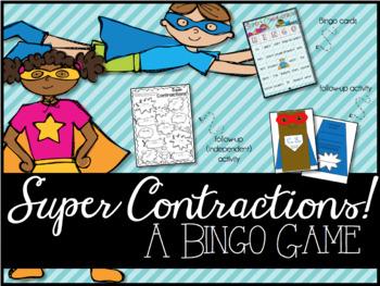 Super Contractions: A Bingo Game & Activity