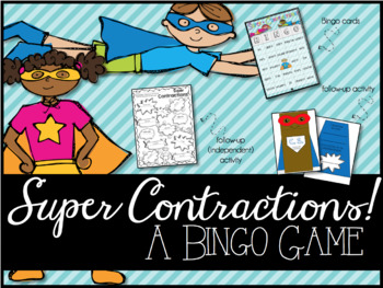 Super Contractions: A Bingo Game & Activity