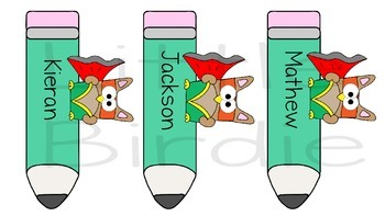 Labels - Name Tags, Desk Tags: Super Cool Kid Owl