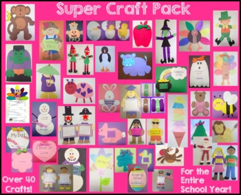 Super Craft and Activity Pack - 43 Crafts and Activities for the Entire Year!