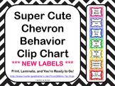 Super Cute Chevron Behavior Clip Chart   *** NEW LABELS ***