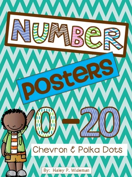 Super-Cute Chevron & Polka Dot Number Posters