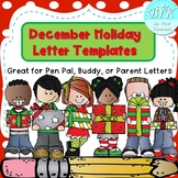 Super Cute December Holiday Letter Templates