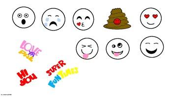 Super Cute Emojis and Border