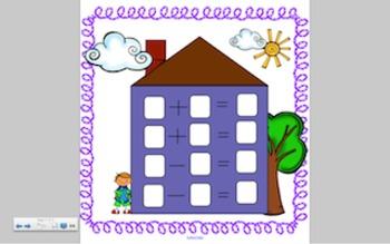 Super Cute Fact Family House, Smart Board