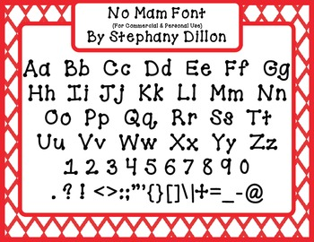 Super Cute Free Font!  No Mam!