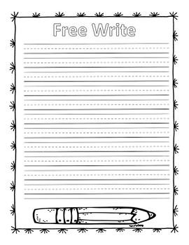 Super Cute Free Write Sheet