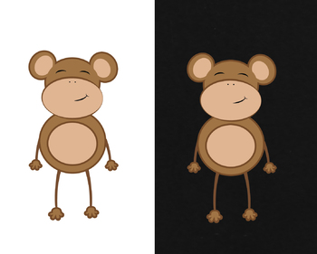 Super Cute Little Monkey Character ClipArt - FREE