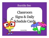 Super Cute Master & Daily Schedule Cards, plus Classroom labels  Bumble Bee