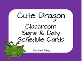 Super Cute Master Schedule, Daily Schedule Cards, and labels  Dragon Theme
